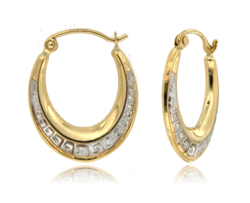 TwoTone SuperLight Stamped Earring